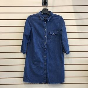 Zara Trafaluc 3/4 Sleeves Lightweight Denim Dress